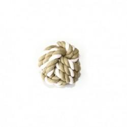 Bola Natural com corda tricolor 7,5 cm