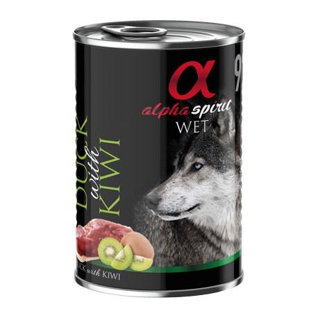 Alpha Spirit Cão Pato & Kiwi  Húmido (Lata)