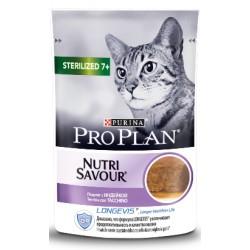 Pro Plan Cat Sterilised 7+ NutriSavour with Turkey